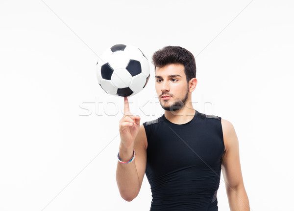 Calciatore palla dito isolato bianco uomo Foto d'archivio © deandrobot