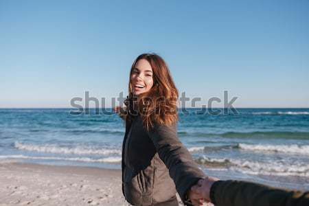 Primeiro pessoa ver homem mão Foto stock © deandrobot