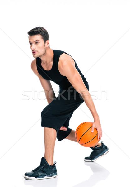 ストックフォト: スポーツ · 男 · 演奏 · バスケットボール · 肖像