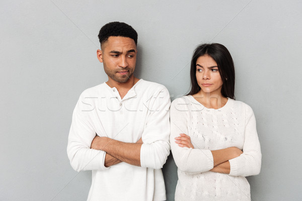 Couple angry about each other Stock photo © deandrobot