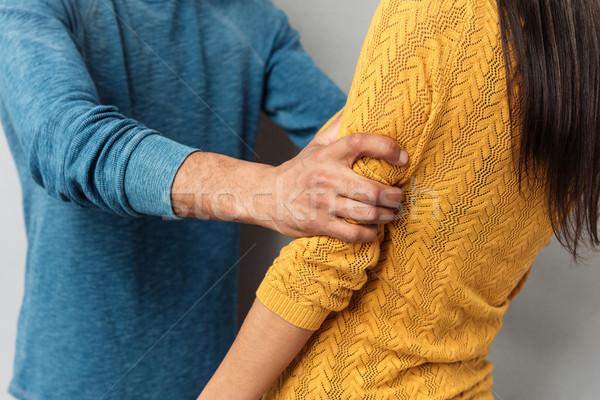 Görüntü çift adam kadın çığlık Stok fotoğraf © deandrobot