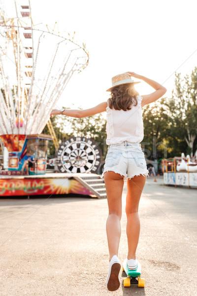 скейтборде улице фото удивительный весело Сток-фото © deandrobot