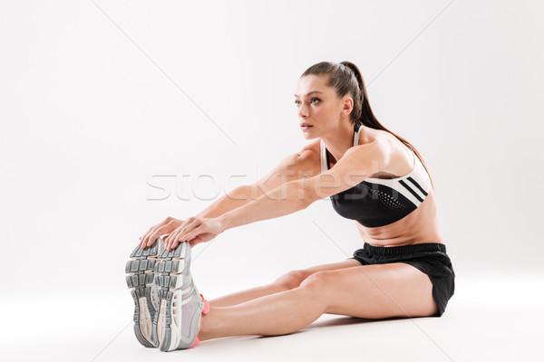 Ritratto giovani muscoli seduta Foto d'archivio © deandrobot