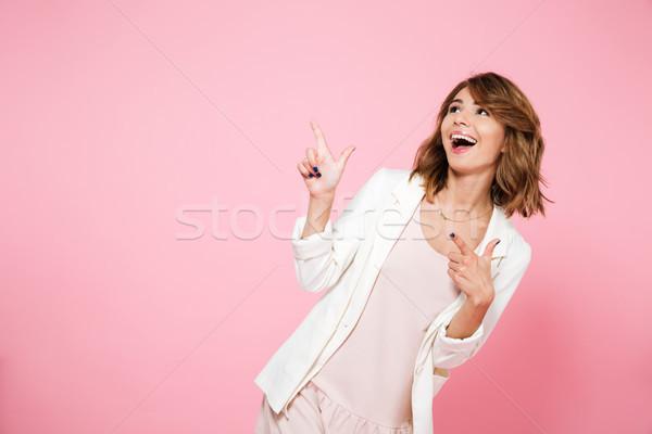 Stock fotó: Portré · boldog · mosolyog · lány · nyár · ruha