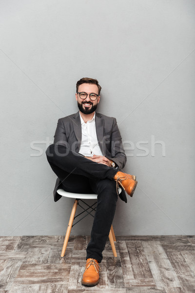 Portrait homme séance président Photo stock © deandrobot
