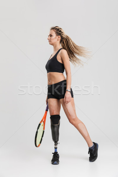 Gorgeous young disabled sportswoman Stock photo © deandrobot
