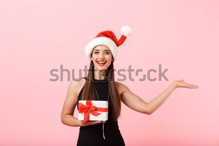 Mujer Georgia bandera feliz Foto stock © deandrobot