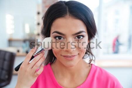 女性 プロ 化粧 幸せ 美しい 小さな ストックフォト © deandrobot