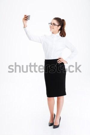 魅力的な 小さな 女性実業家 立って ストックフォト © deandrobot