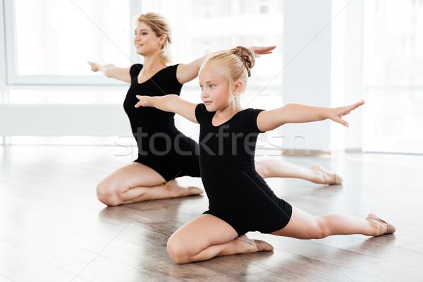 Kislány nő ballerina tánc együtt balett Stock fotó © deandrobot