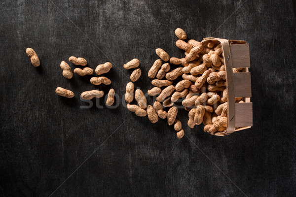 Top view of dried peanuts Stock photo © deandrobot