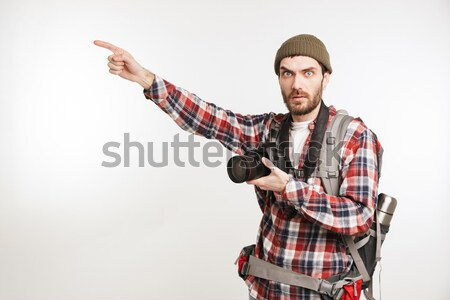 Full ength portrait of a troubled young man Stock photo © deandrobot