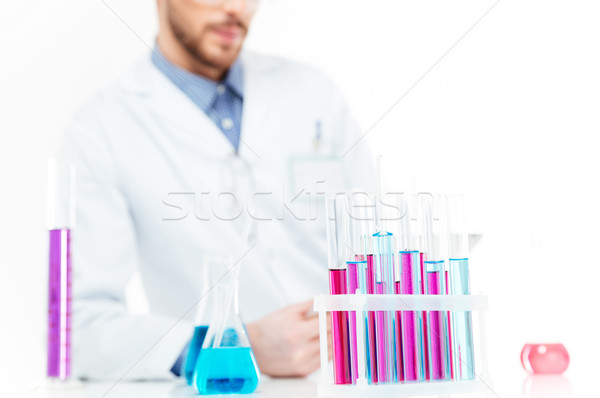 ученого химикалии лаборатория изображение человека Сток-фото © deandrobot