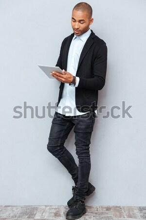 ストックフォト: ビジネスマン · 笑みを浮かべて · あごひげを生やした · スーツ