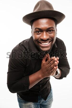 Сток-фото: улыбаясь · молодые · африканских · человека · рубашку