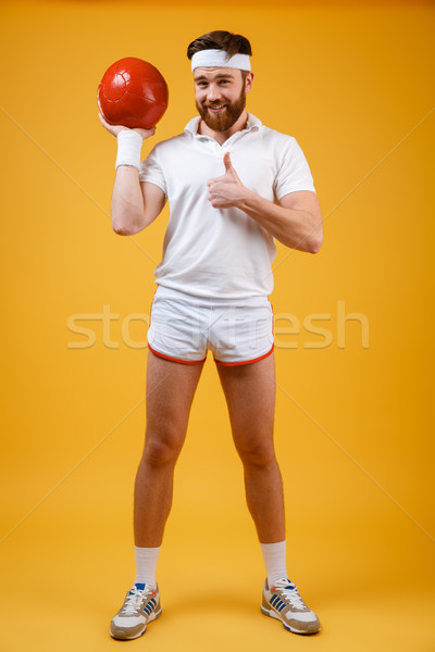 молодые спортсмен мяча Сток-фото © deandrobot