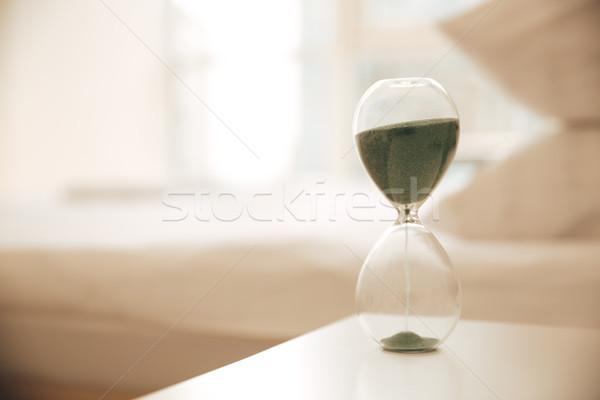 песочных часов таблице изображение бизнеса часы Сток-фото © deandrobot