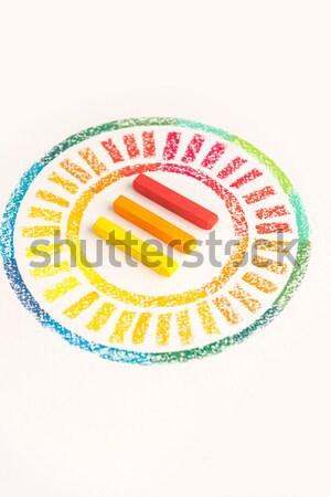 Foto círculo colorido pastel branco Foto stock © deandrobot