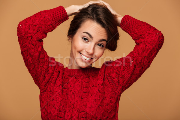 Portrait charmant brunette femme Photo stock © deandrobot