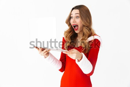 Stock photo: Portrait of an angry asian woman yelling at mobile phone