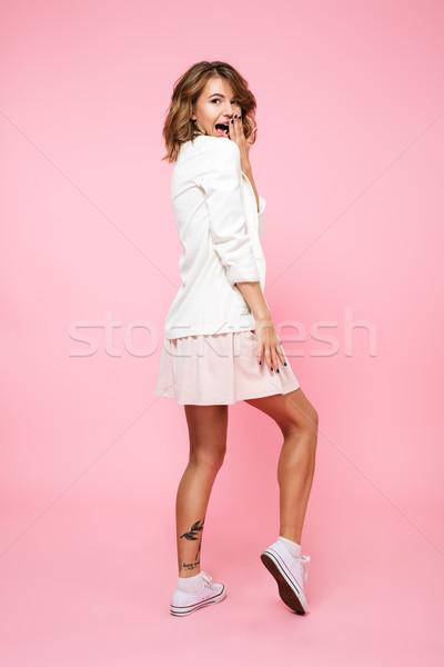Ritratto bella ragazza abito Foto d'archivio © deandrobot