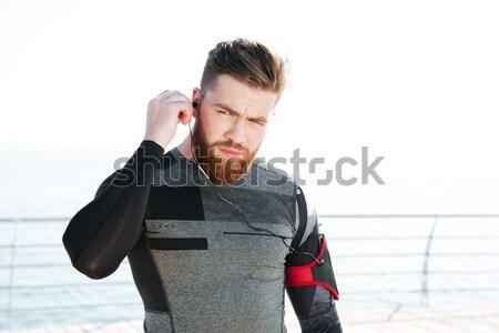 Portret peinzend zakenman grijs man uitvoerende Stockfoto © deandrobot