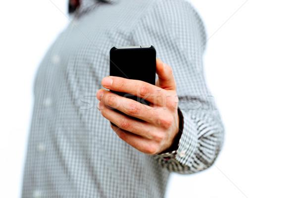 Сток-фото: изображение · мужчины · стороны · смартфон