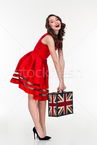 Séduisant femme vintage Photo stock © deandrobot