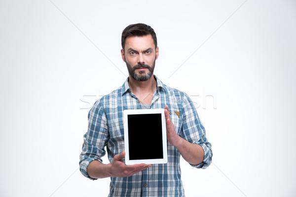 Casual homem tela isolado Foto stock © deandrobot