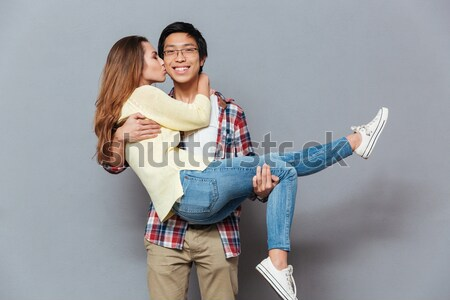 Shot of lovely pair isolated Stock photo © deandrobot