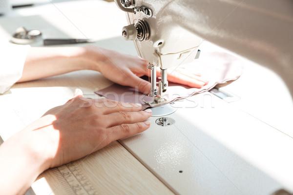 La máquina de coser taller moda diseno signo Foto stock © deandrobot