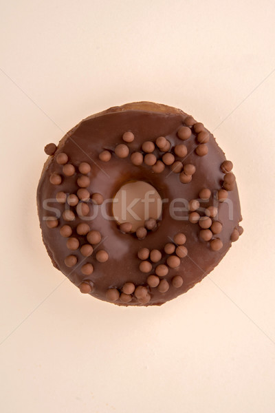 One donut with flakes isolated Stock photo © deandrobot