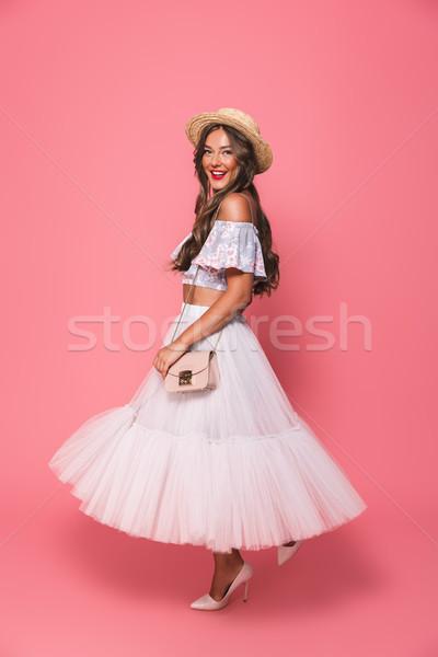 Obraz europejski moda kobieta 20s Zdjęcia stock © deandrobot