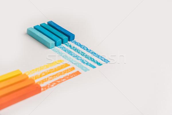 Color pastel lápiz propio rastrear Foto stock © deandrobot