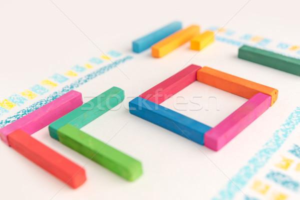 Foto cute disegno geometrico colorato pastello texture Foto d'archivio © deandrobot