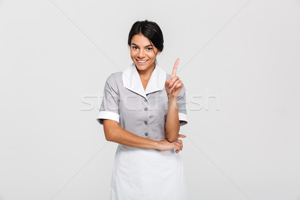 Retrato jóvenes sonriendo morena femenino limpia Foto stock © deandrobot