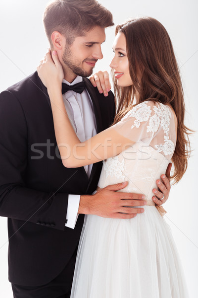 Beautiful newlyweds Stock photo © deandrobot