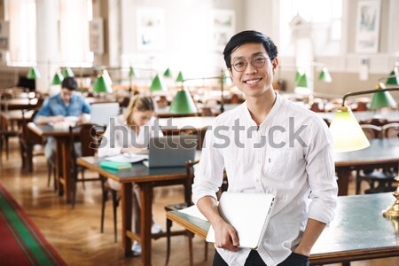 Cheerful business people applauding in a meeting. Business concept. Stock photo © deandrobot