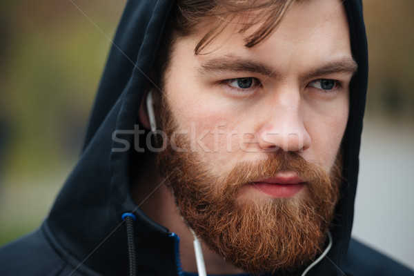 Close up runner in hood Stock photo © deandrobot