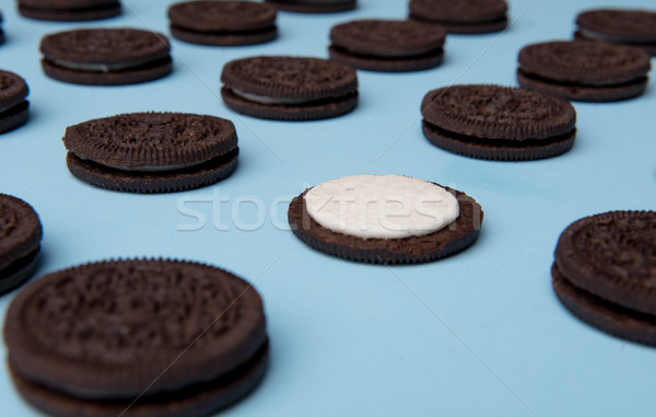 Stock photo: Photo of a lot of chocolate sweeties cookies