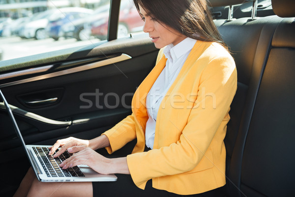 Cropped image of business woman travelling to work Stock photo © deandrobot
