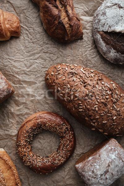 パン 小麦粉 表 写真 ベーカリー ストックフォト © deandrobot
