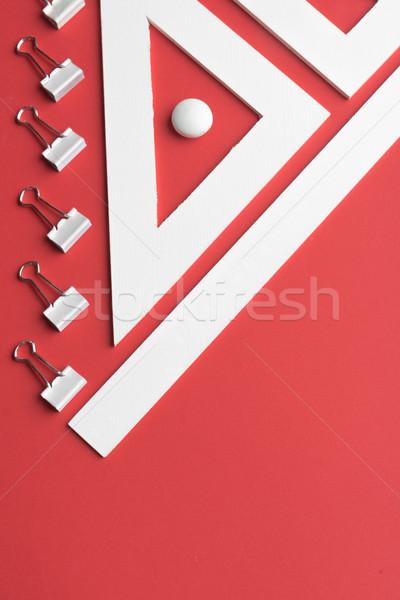 Stock fotó: Irodaszerek · piros · asztal · kép · üzlet · iroda
