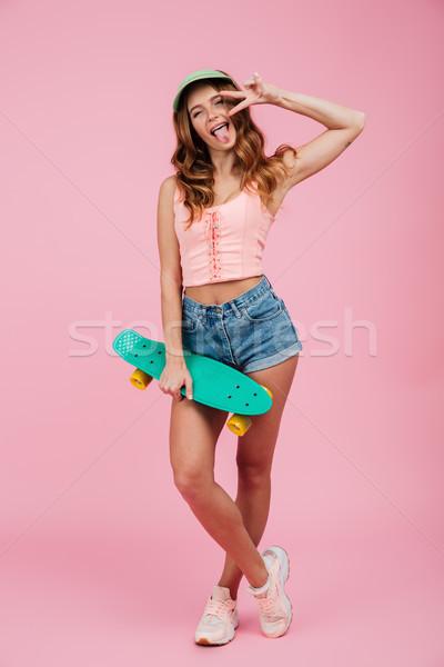Foto d'archivio: Ritratto · divertente · donna · estate · vestiti