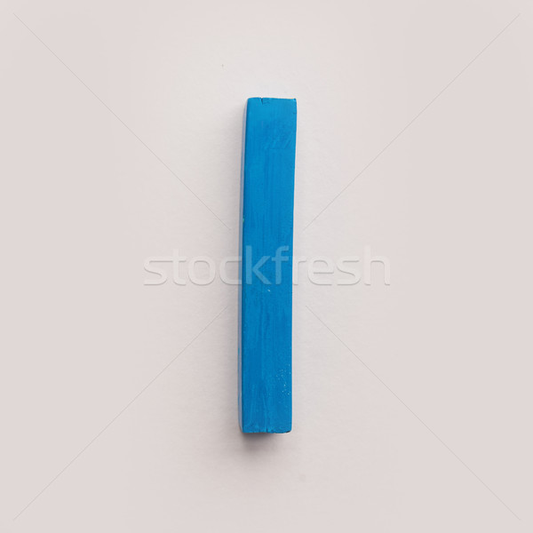 Blue pastel crayon chalk  Stock photo © deandrobot