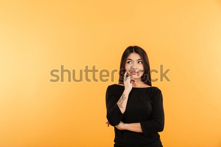 Portre dalgın Asya kadın ayakta Stok fotoğraf © deandrobot