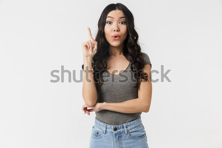 Portrait of a pensive frustrated girl Stock photo © deandrobot