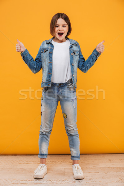 ストックフォト: 肖像 · 興奮した · 女学生