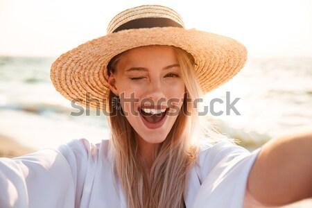 фото счастливым женщину 20-х годов лет Сток-фото © deandrobot