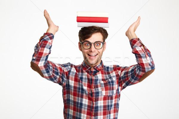 ストックフォト: 肖像 · 幸せ · 興奮した · 男性 · 学生